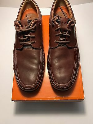 New Clarks Unstructured Un.Sampson 62202 Men's Brown Leather Oxfords Size9.5M