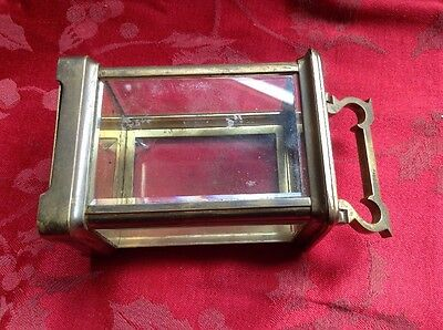 Complete  Brass French Carriage Clock Case For Spares Or Repair