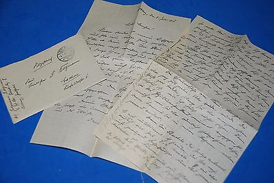 1918 World War, German Captain Field Post Vintage old Letter WWI, Antique L69