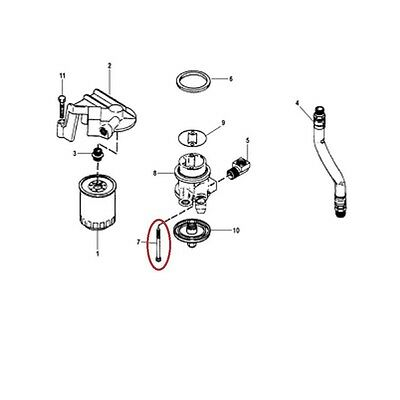 10-15853 Quicksilver Mounting Bolt For Mercruiser Remote Oil Filter System