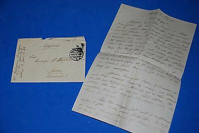 1918 World War, German Captain Field Post Vintage old Letter WWI, Antique L70