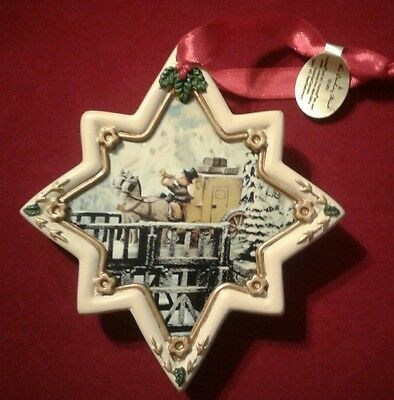 """Hummel Christmas Ornament Eight Pointed Star Shaped """"The Mail is Here"""""""