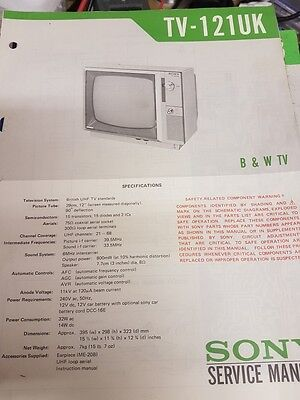 sony tv-121uk service manual