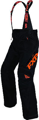 FXR Mens Black/Orange X System Insulated Snowmobile Pants Snow Snocross