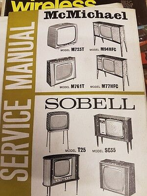 sobell model t25/sc35 and mcmcihael m723t/m94hfc/m761t/m77hfc  service manual