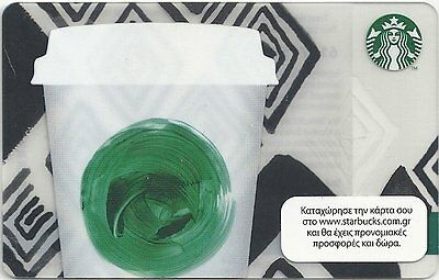 Starbucks Gift Card: Greece - 2014 Green Cup (series 6107), new/empty