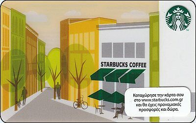 Starbucks Gift Card: Greece - 2013 Store Front (series 6089), new/empty