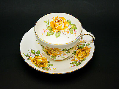 Vintage Melba bone china footed tea cup and saucer (Mel 14)