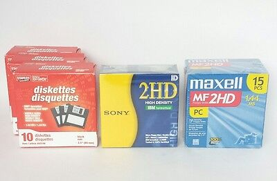 New Maxell Sony Staples 2HD Floopy Disk Lot Diskettes