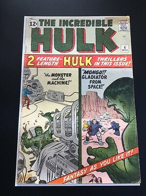 The Incredible Hulk #4 ORIGIN RETOLD Rare Silver Age Kirby, Lee, Ayers HTF