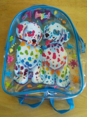 Vintage Lisa Frank Backpack Bag Spotty Dotty Dalmatian 10x8 Inches