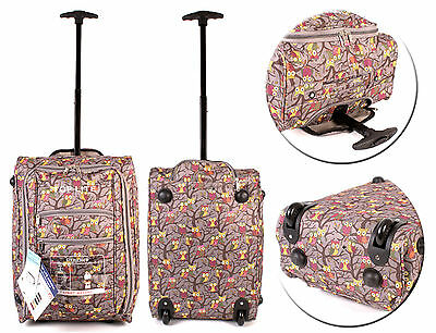 Lightweight Wheeled Hand Luggage Cabin Bag Flight Travel Carry On Suitcase
