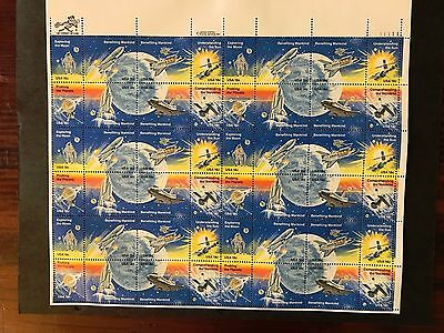 Scott #1912-19: 18 cent Space Achievement Sheet MNH
