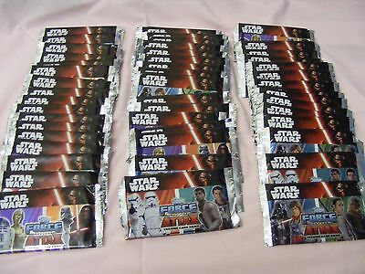 *STAR WARS* -  50 SEALED PACKETS = 400 CARDS  -  FORCE ATTAX Topps Disney