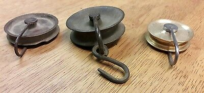3 Longcase/Grandfather clock pulleys-No Reserve! • £5.50