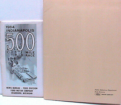 1964 Ford Indianapolis 500 Press Kit-Mustang Pace Car & 427 DOHC Indy Engine