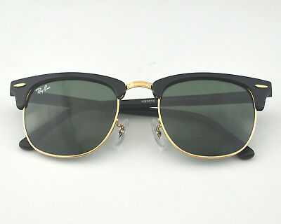 f9df7db40 ... where to buy ray ban rb3016 clubmaster w0365 black frame green classic g  15 sunglasses 51mm