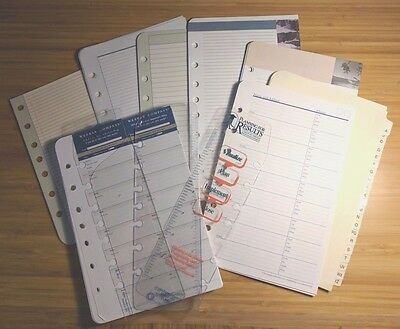 Assorted Pages - Franklin Planner Classic Size - Blank, Weekly Compass, more