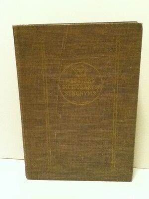 Vintage 1942 Webster's Dictionary Of Synonyms First Edition Hardcover