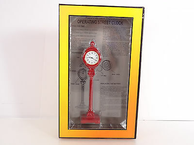MTH RailKing O Scale Operating Die Cast 1930's Street Clock Item 30-1061 New