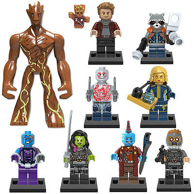 guardians of the galaxy minifigures x9 figures brand new fits lego, gg1