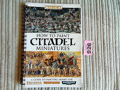 Warhammer 40k How to Paint Citadel Miniatures book  2014 Latest Current