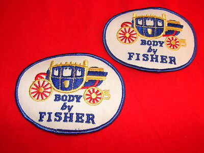2 Vintage Fisher Body Coach GM Embroidered Patches 1970's? 1980's? UAW USA