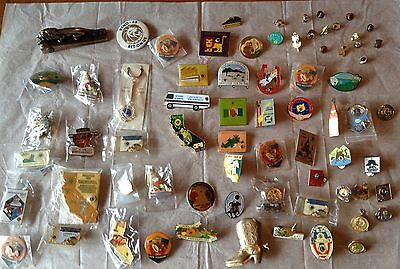 72 Piece Lot Lions Club International Collectibles Pins Keychain Paperweight Etc