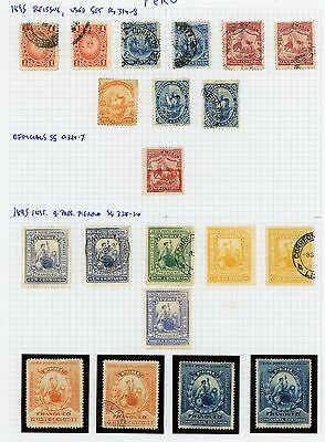 Peru 1895 Lima Reissues, Officials, Postal Union: Ra Carter Collection