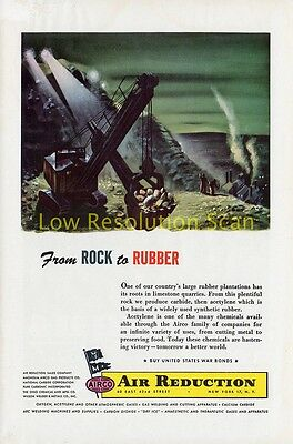 Airco, Air Reduction, Rock To Rubber - Vintage Advert, Ad 1944 Original