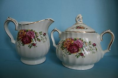 Rose Garden Sugar and Creamer by Myott