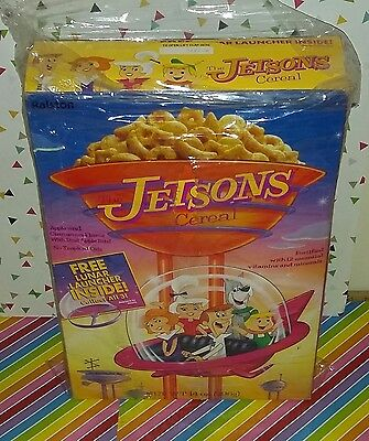 Full Unopened Box of 1990s  Hanna Barbera The Jetsons Movie Cereal with Prize
