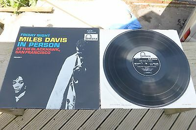 Miles Davis - Friday Night in Person At the Blackhawk Fontana 1st Rare UK LP