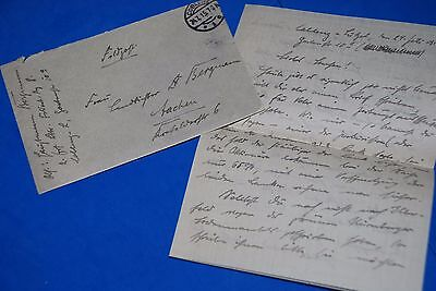 1918 World War, German Captain Field Post Vintage old Letter WWI, Antique L79