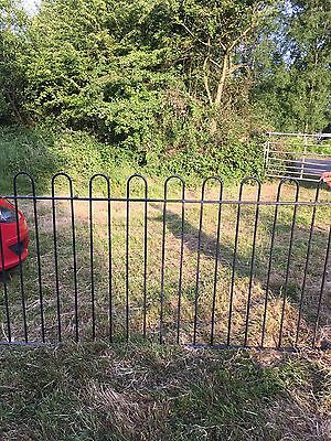 Fence - raillings, posts and brackets job lot