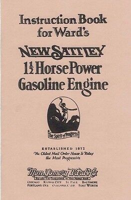 Instruction Book Ward's New Sattley 1 1/2 Horsepower Gasoline Engine Motor