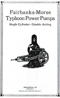 Fairbanks Morse Typhoon Power Pumps Manual Booklet Single Cylinder Gas Engine