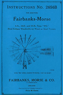 Fairbanks Morse Eclipse Windmill WG Book Pump Jack 2656B steel hit miss engine