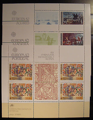 Europa Cept  1982 Portugal-Madeira Y Azores Mnh**