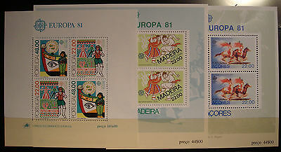 Europa Cept  1981 Portugal-Madeira Y Azores Mnh**