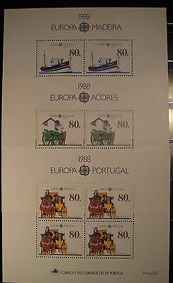 Europa Cept  1988 Portugal-Madeira Y Azores Mnh**
