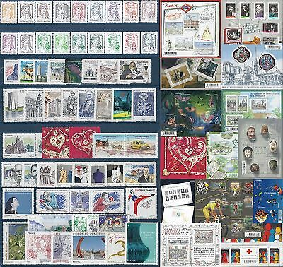FRANCE ANNEE 2013 COMPLETE  -NEUF ** 125 Timbres dont 15 Blocs LUXE MNH