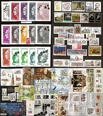 2012 FRANCE ANNEE COMPLETE 98 timbres du N° 4631 au N° 4710 NEUF **LUXE MNH