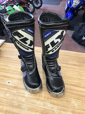 Fly Racing 805 Motocross Boots Size 7 Black New