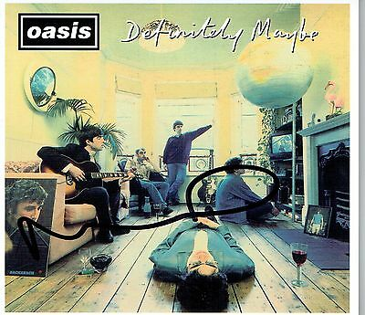 Oasis Noel Gallagher Hand Signed Autographed Definitely Maybe CD Album Sleeve