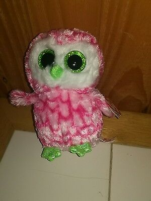 TY Beanie Boo Bubbly Owl Claire's store Exclusive Boo
