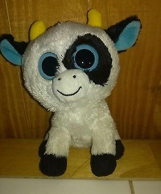 TY Beanie Boo Daisy Cow - Rare Solid eyes - No hang tag