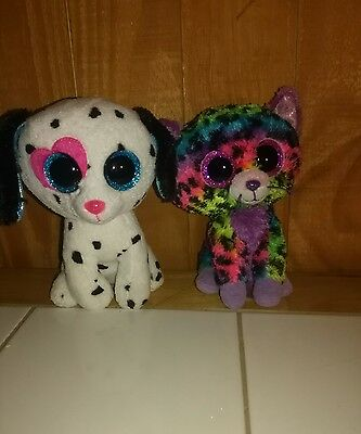 TY Beanie Boo set - Justice Store Exclusives - Trixie & Chloe - No hang tags