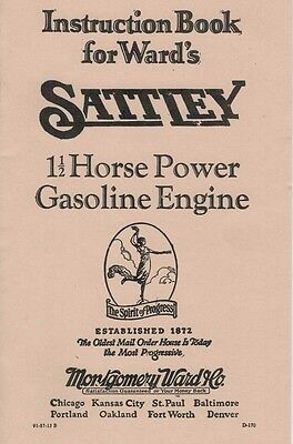 Instruction Book Ward's Sattley 1 1/2 Horsepower Gasoline Engine