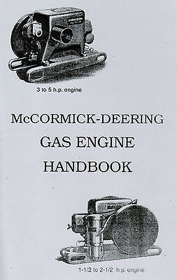 International McCormick Deering Type M Gas Engine Motor Handbook Hit Miss 1.5hp